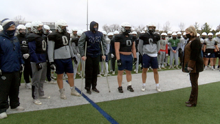 Mill Valley defensive line