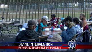 Faith-based groups are scrambling to keep up with demands as they help the homeless during the pandemic.