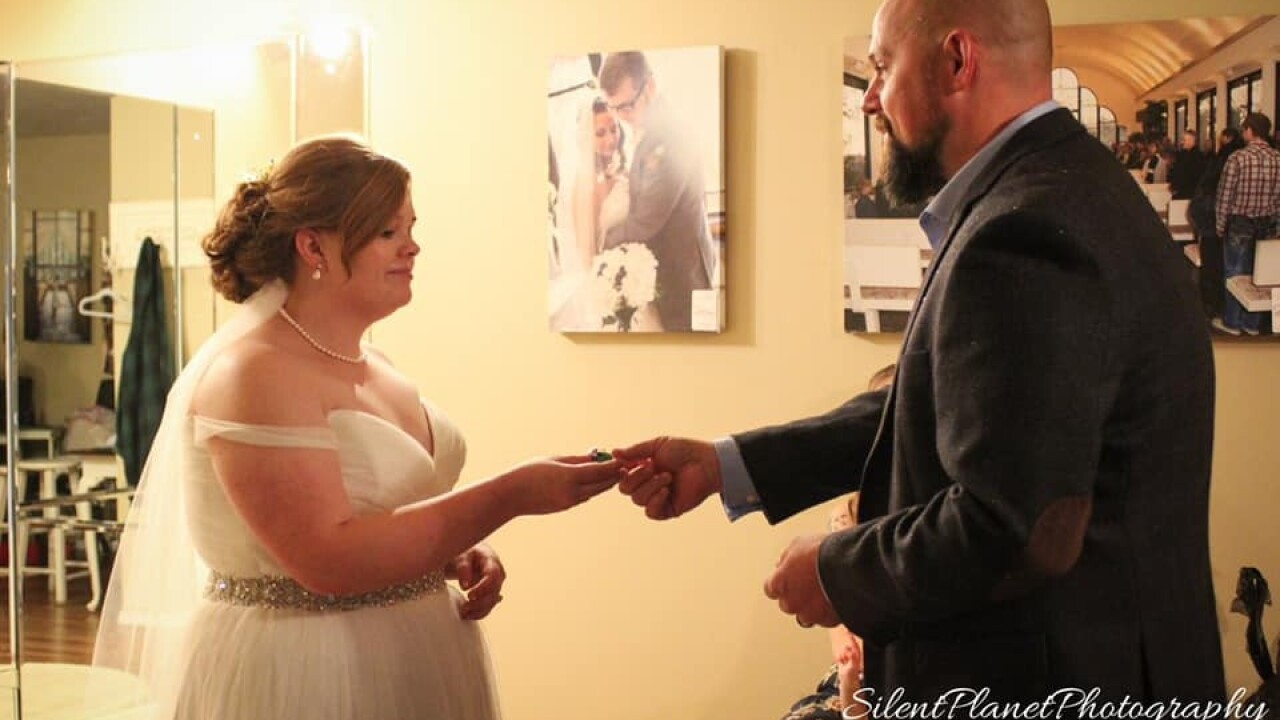 Uncle's gift to bride serves as touching reminder of deceased dad on wedding day