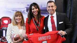 unlv football coach Marcus Arroyo  2019.jpg