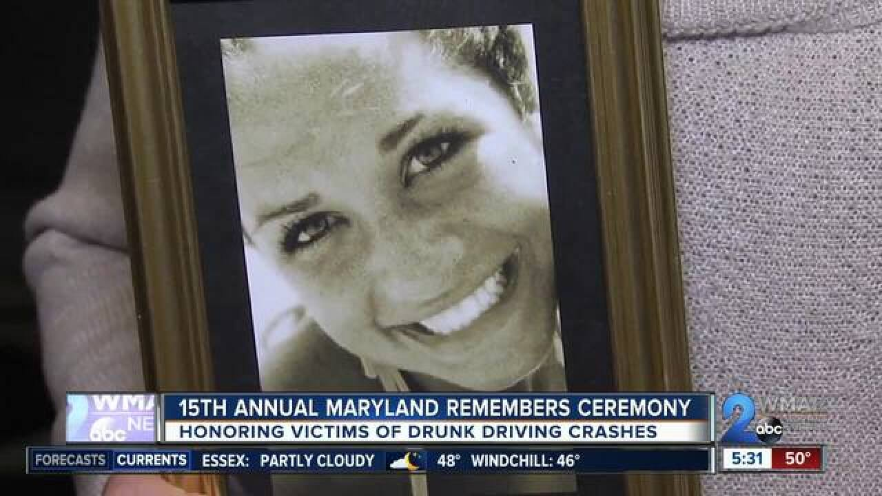 Honoring victims of drunk driving crashes