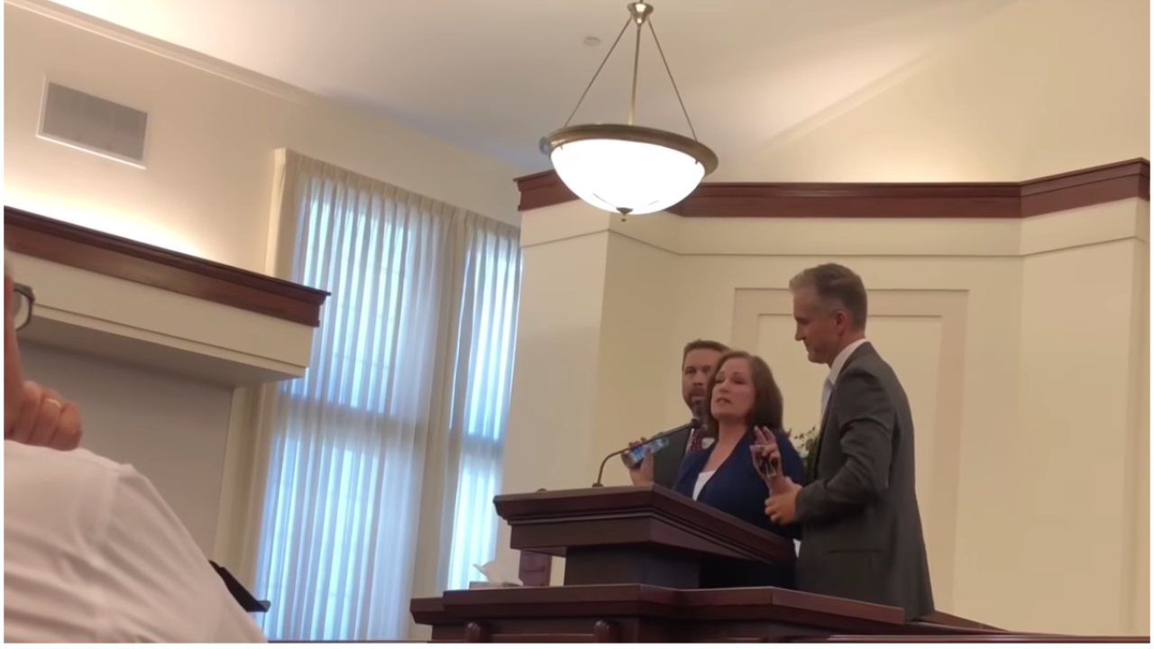 Video shows woman who sued LDS Church over sex assault confronting ex-MTC president inchapel