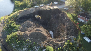 SKY 9 shows workers removing tons of contaminated waste from the Bells' residential property in Villa Hills