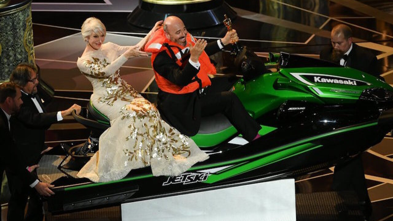 Jet Ski winner Mark Bridges had the best Oscar night