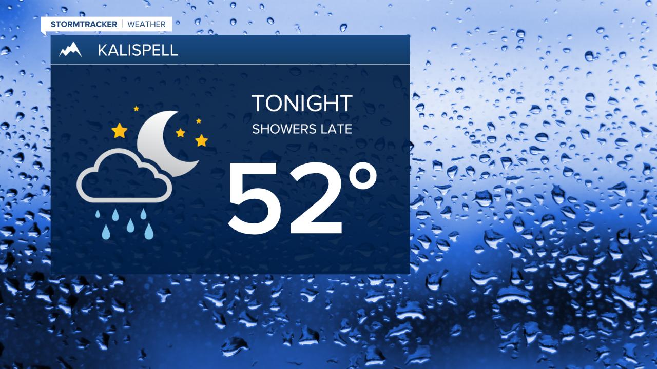 Rain returns for the northwest late Thursday night