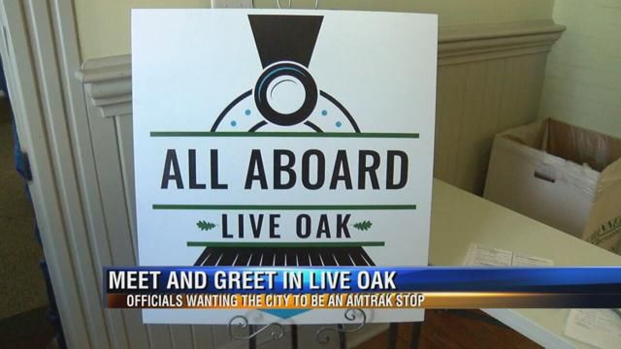 Live Oak Officials Campaign for Future Amtrack Stop