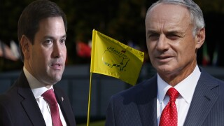 Marco Rubio and Rob Manfred, The Masters at Augusta National composite