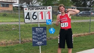 Glasgow's Brett Glaser ends prep career with State B shot put title