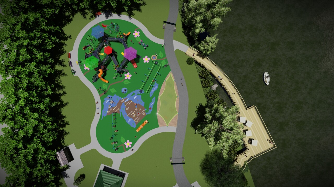 Lansing accessible playground for children with disabilities
