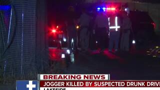 Jogger killed by suspected drunk driver