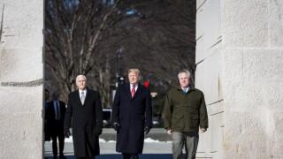 President Trump Visits MLK Memorial in Washington, DC