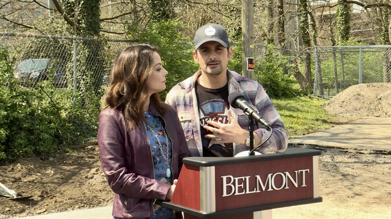 Brad Paisley and Kimberly Williams Paisley break ground on nonprofit