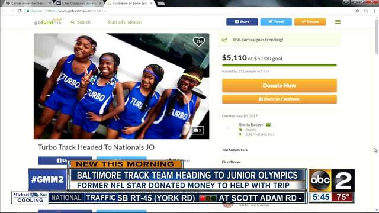 Chad Johnson helps Baltimore track team compete