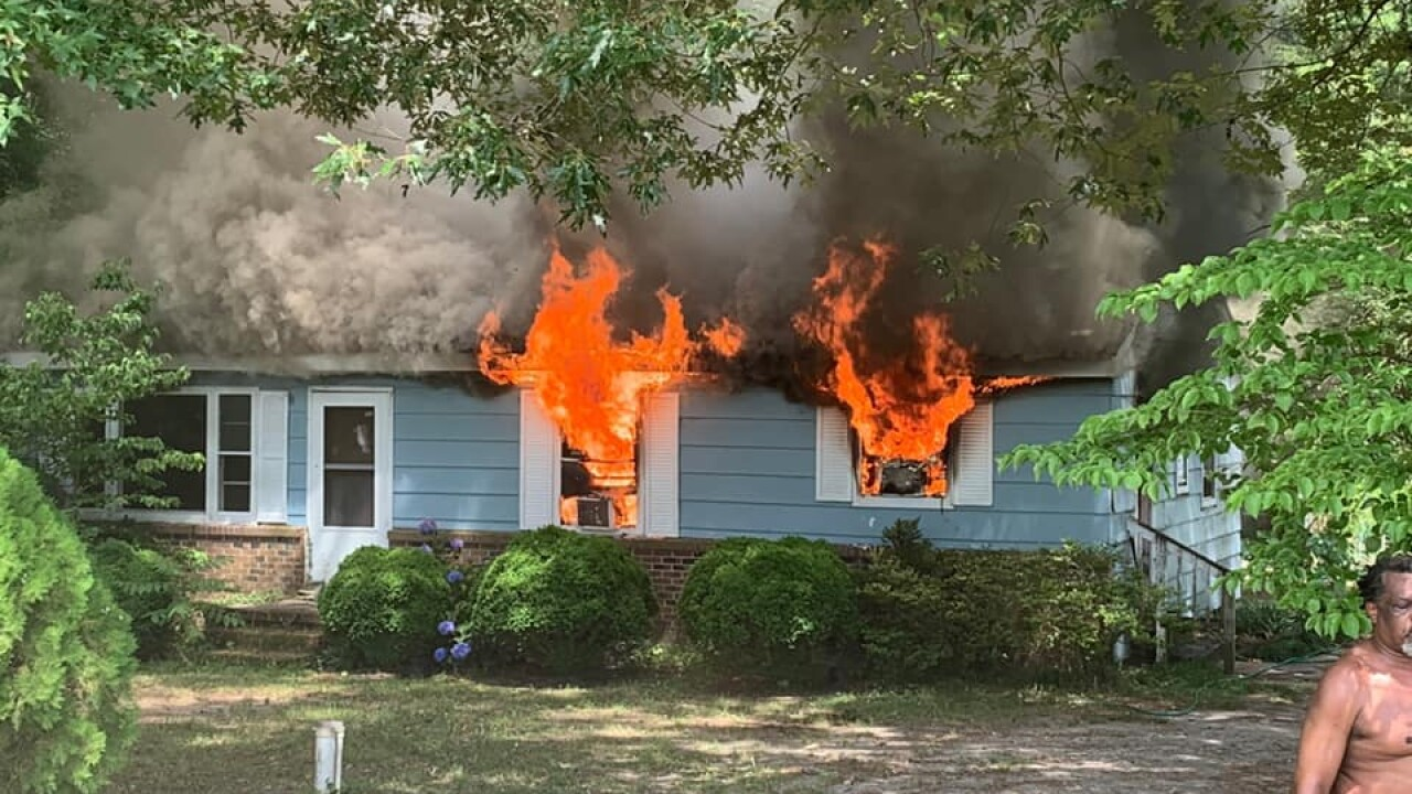 House fire calls for response from multiple Isle of Wight Co. crews
