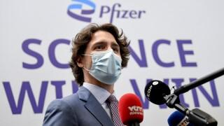 Belgium Pfizer Canada Trudeau