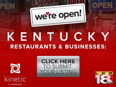 We're Open! Kentucky #TeamKentucky #TogetherKy #TogetheratHome #Patriot