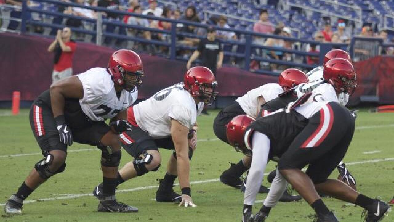 SDSU offensive line looks to build upon breakout season