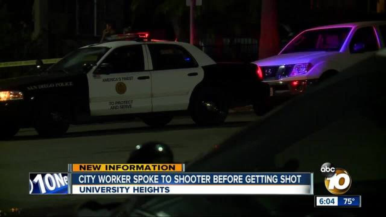 City worker spoke to shooter before getting shot