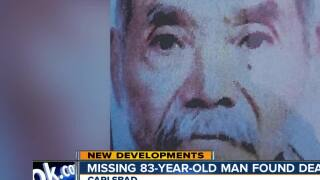Missing 83-year-old Vista man found dead in canyon