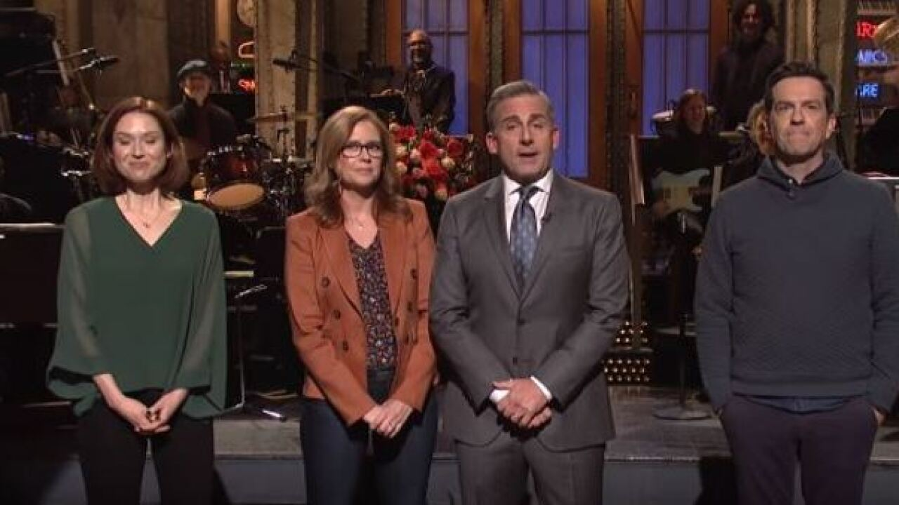 "Steve Carell and former ""The Office"" cast mates joke of reboot on 'SNL'"