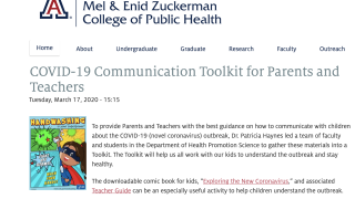 COVID-19 Communication Toolkit for Parents and Teachers