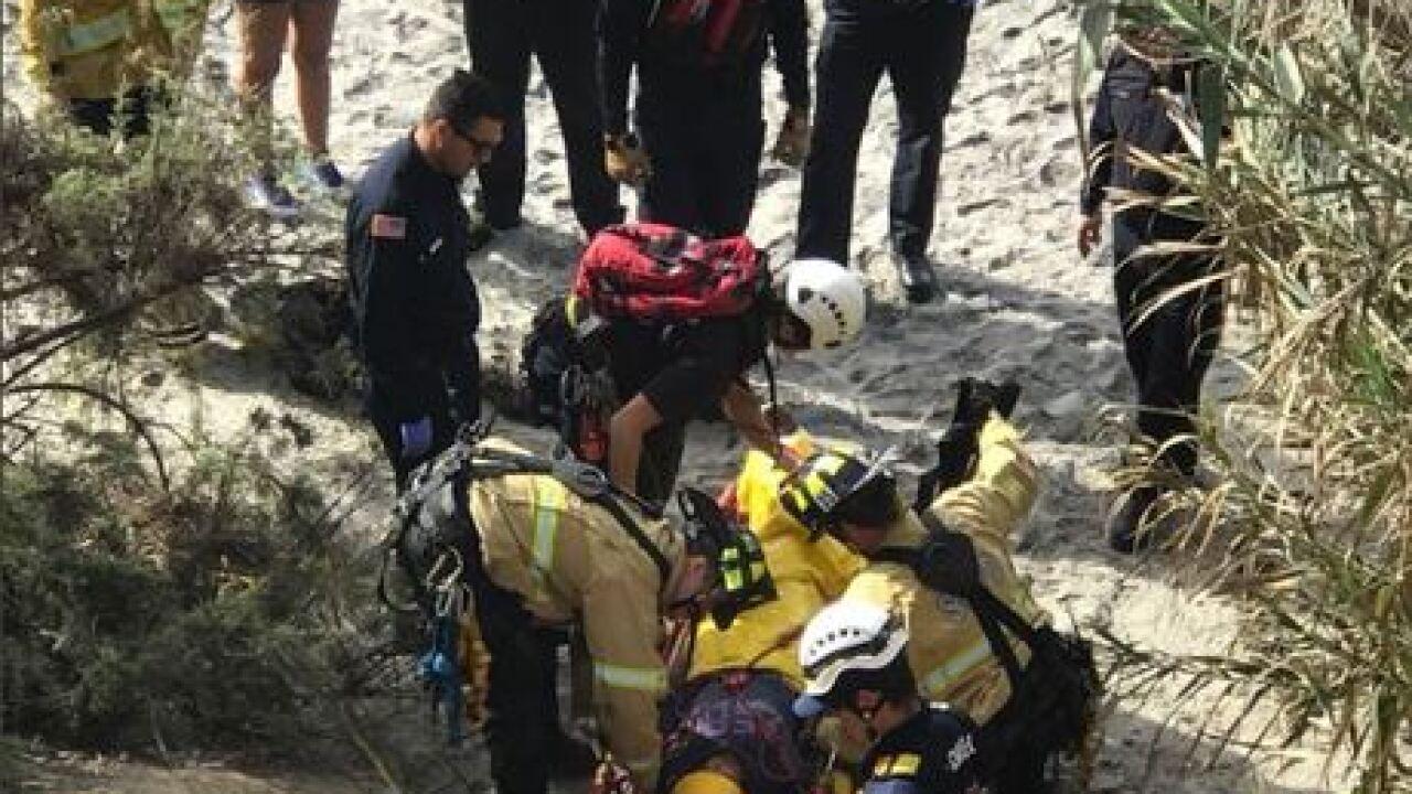 SDFD rescues woman from La Jolla trail