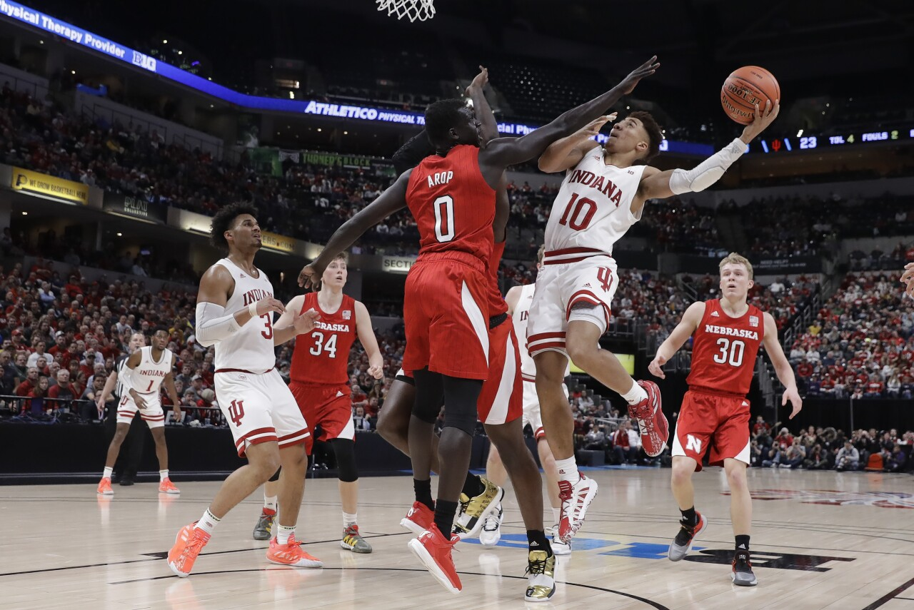 B10 Nebraska Indiana Basketball