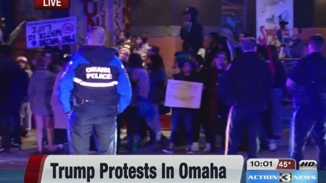 2 people arrested at Trump protest in Omaha