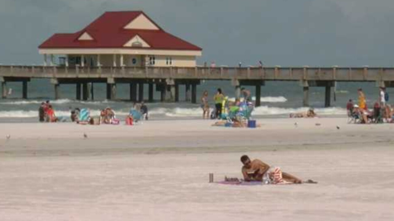 Rip current warning issued, Clearwater Beach