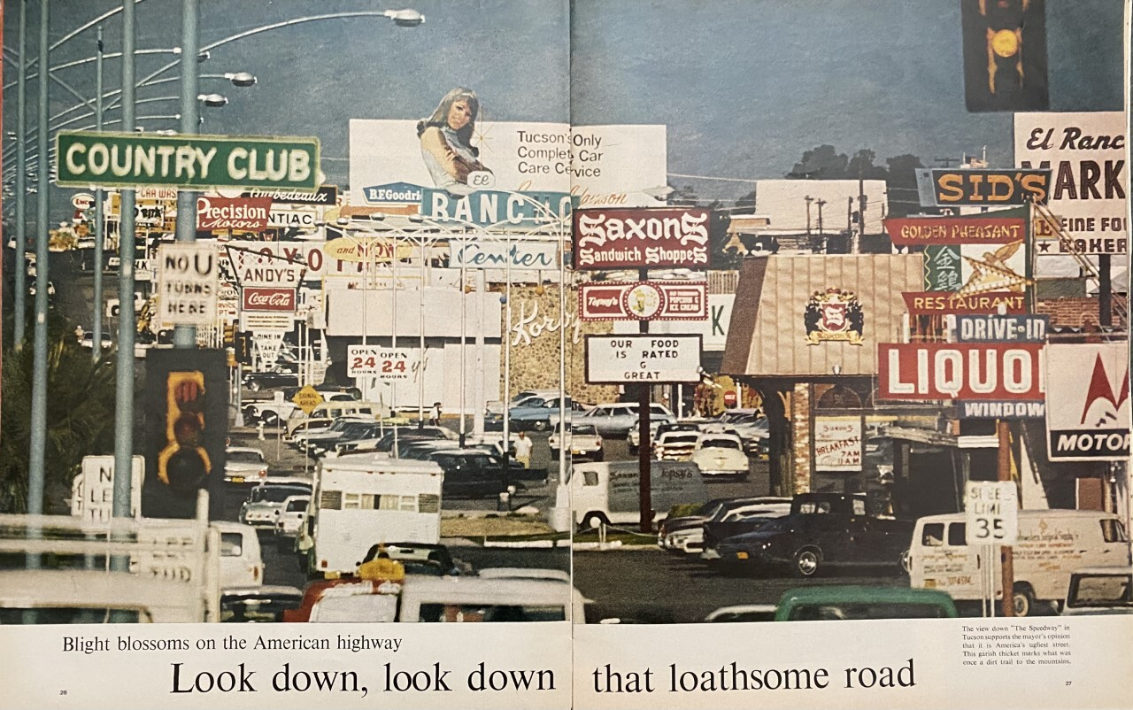 LIFE magazine photo calling Speedway the ugliest street in America.