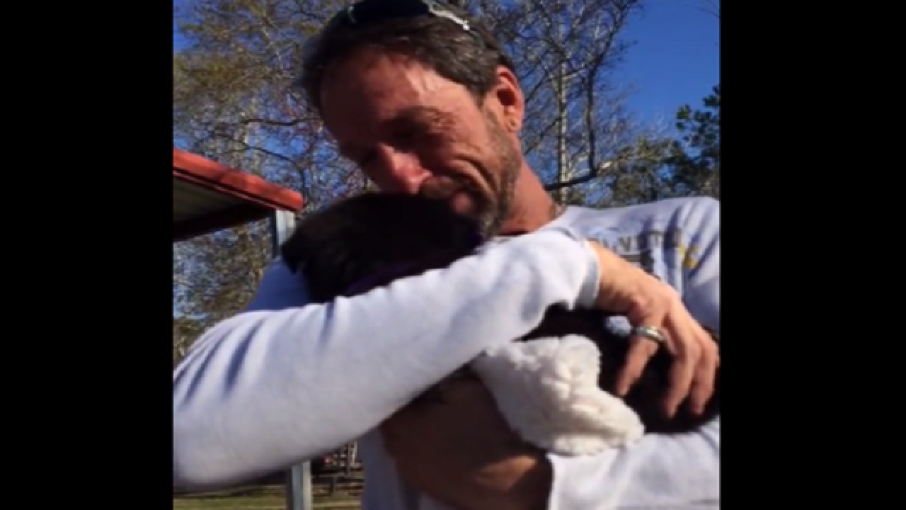 Emotional dad receives German Shepherd puppy surprise