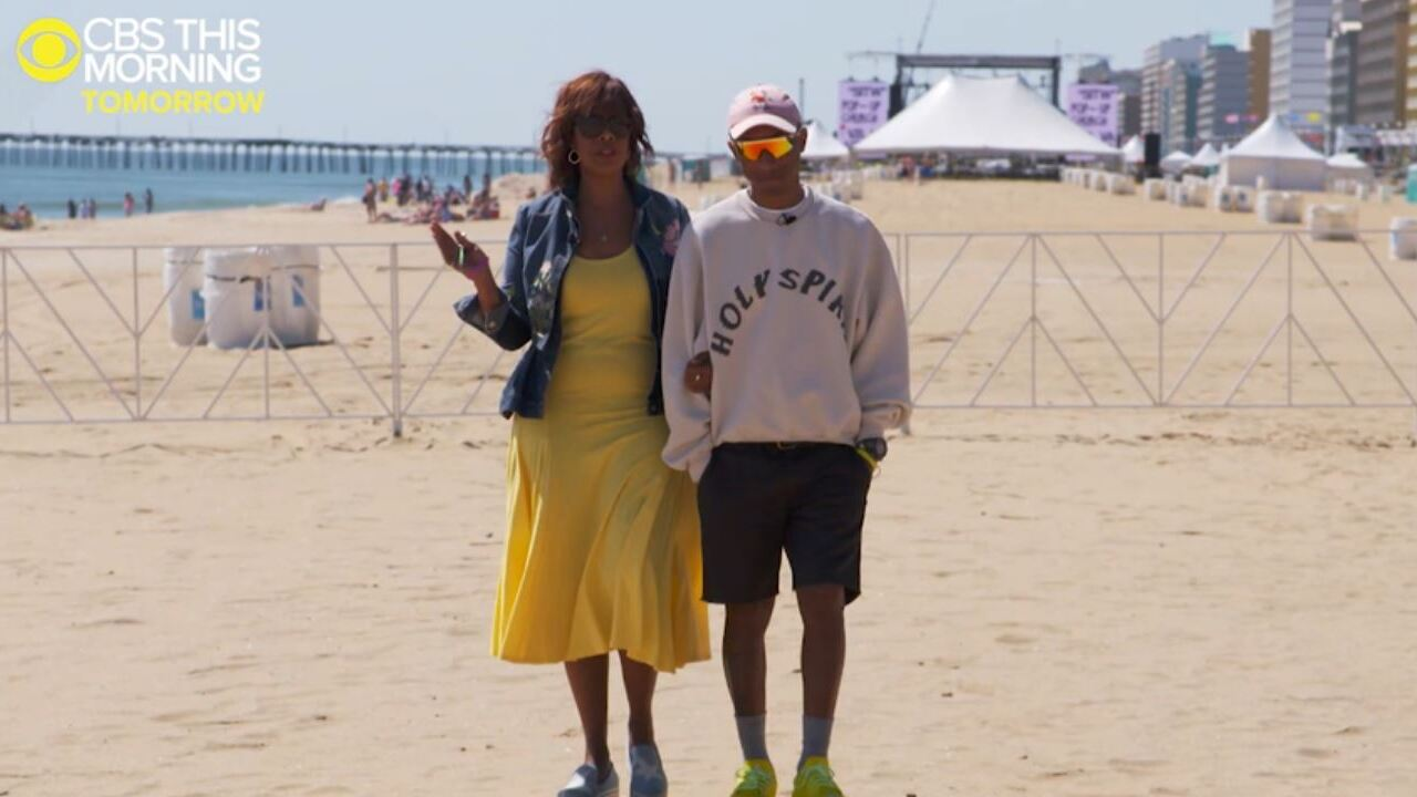 Watch: Pharrell sits down with Gayle King after success of Something in the Water