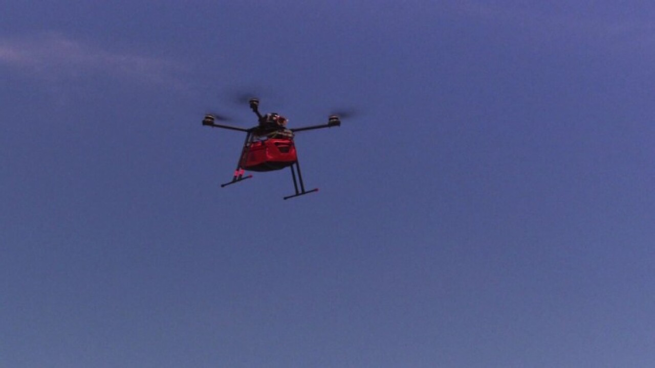 How drones could be 'lifesaving' in an emergency