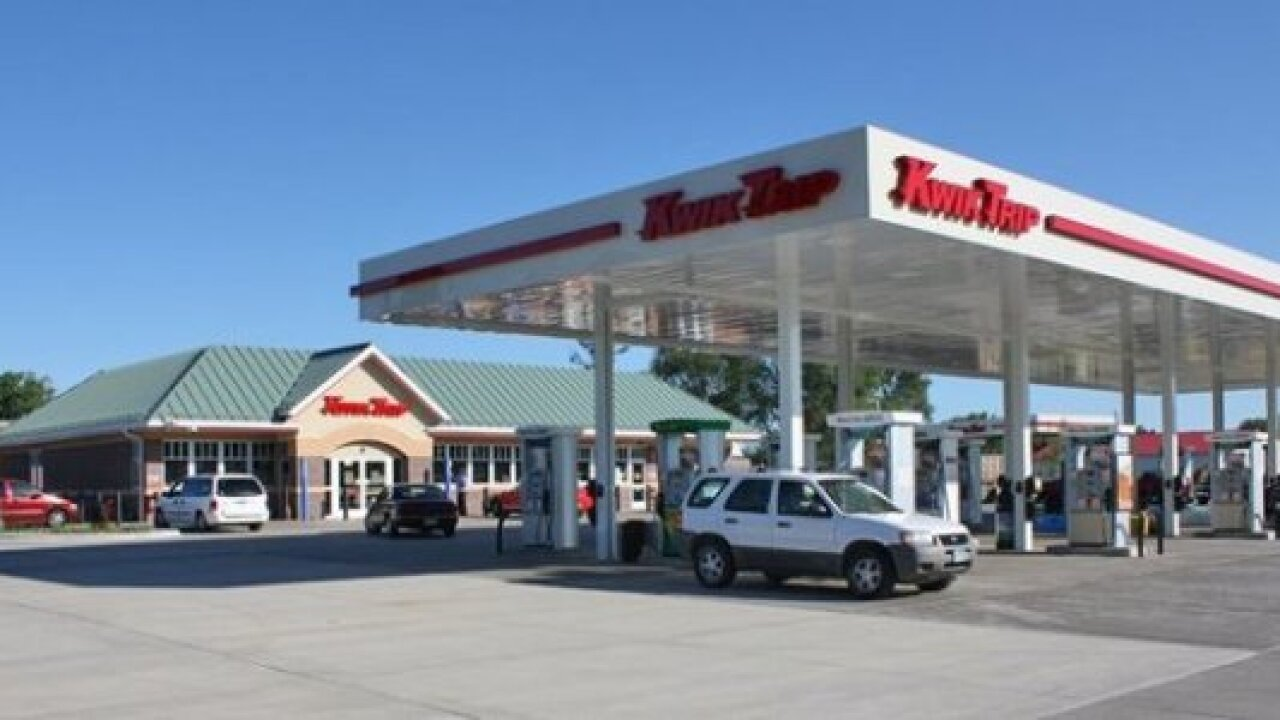 Wideshot of a Kwik Trip gas station, which sold winning lottery ticket