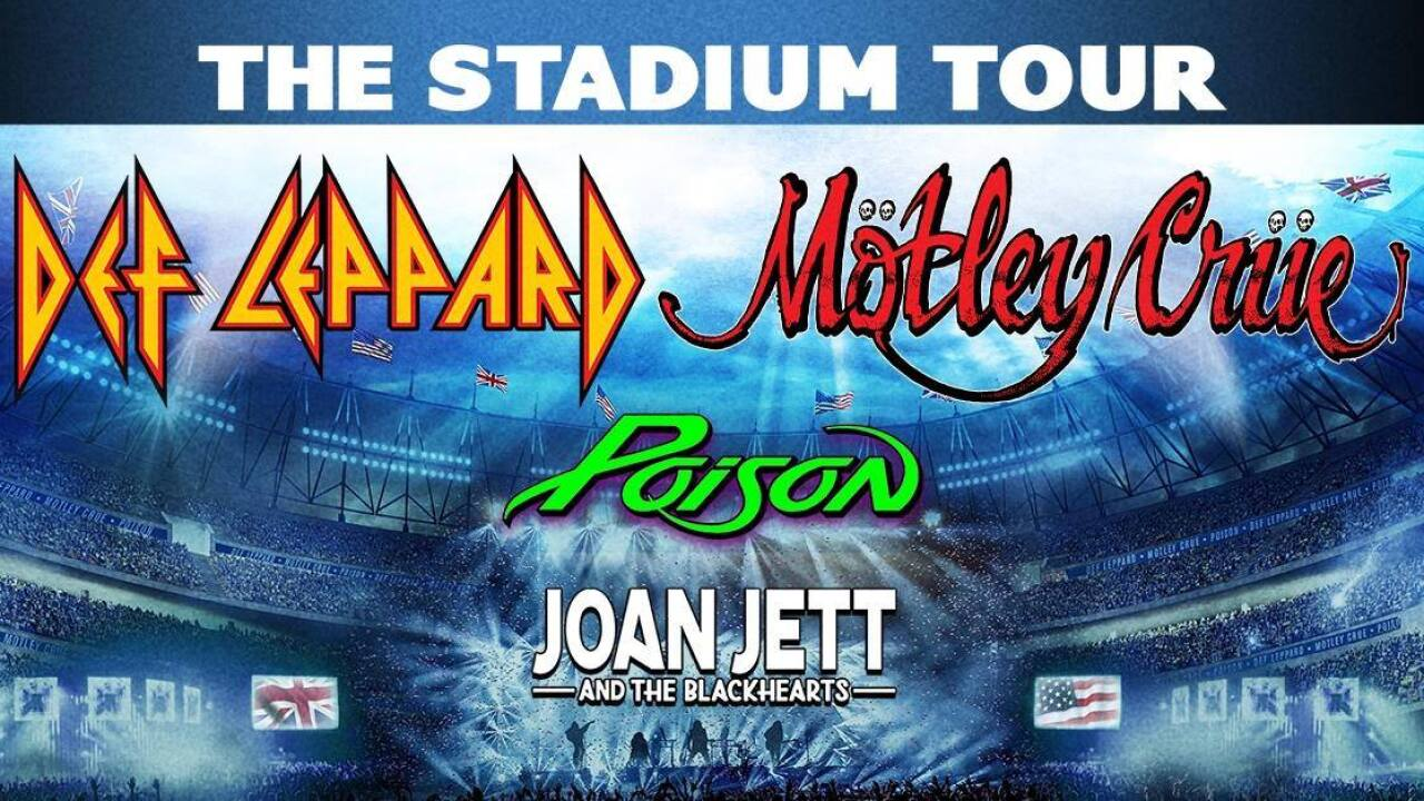 The Stadium Tour 2020: Def Leppard, Motley Crue, Poison, Joan Jett ...