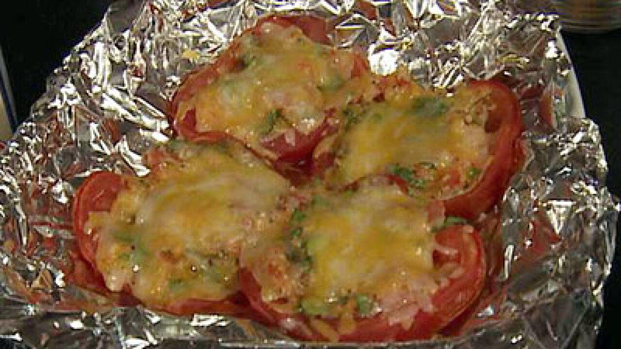 Italian Herb and Cheese Stuffed Tomatoes (10.04.12)