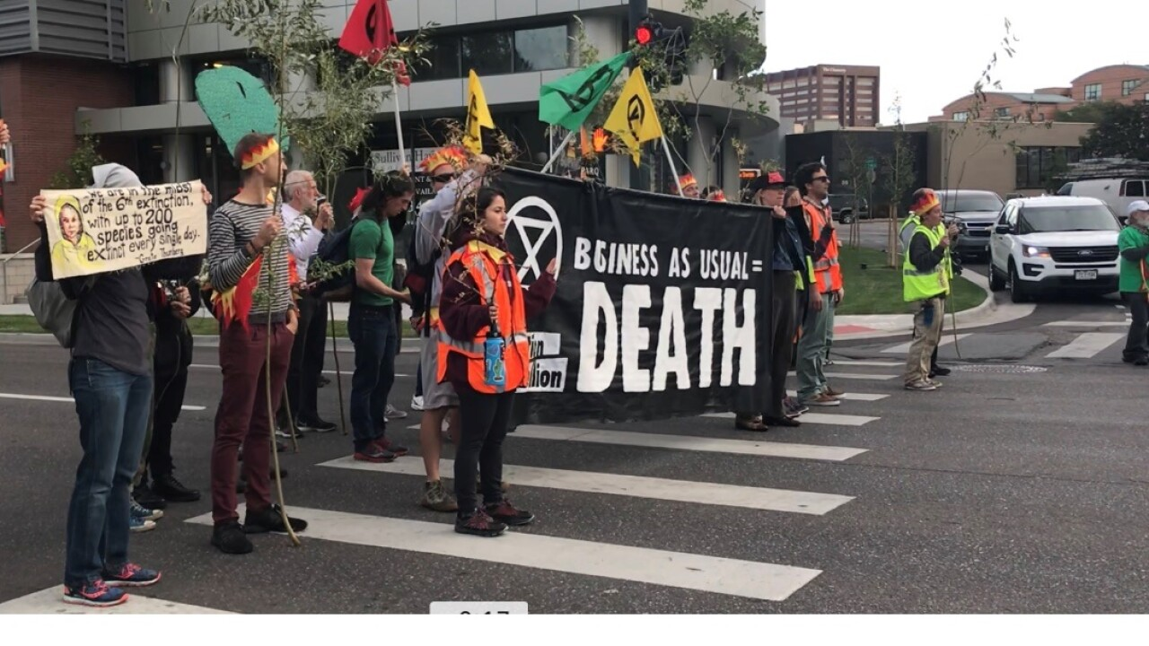 Extinction Rebellion protests climate change