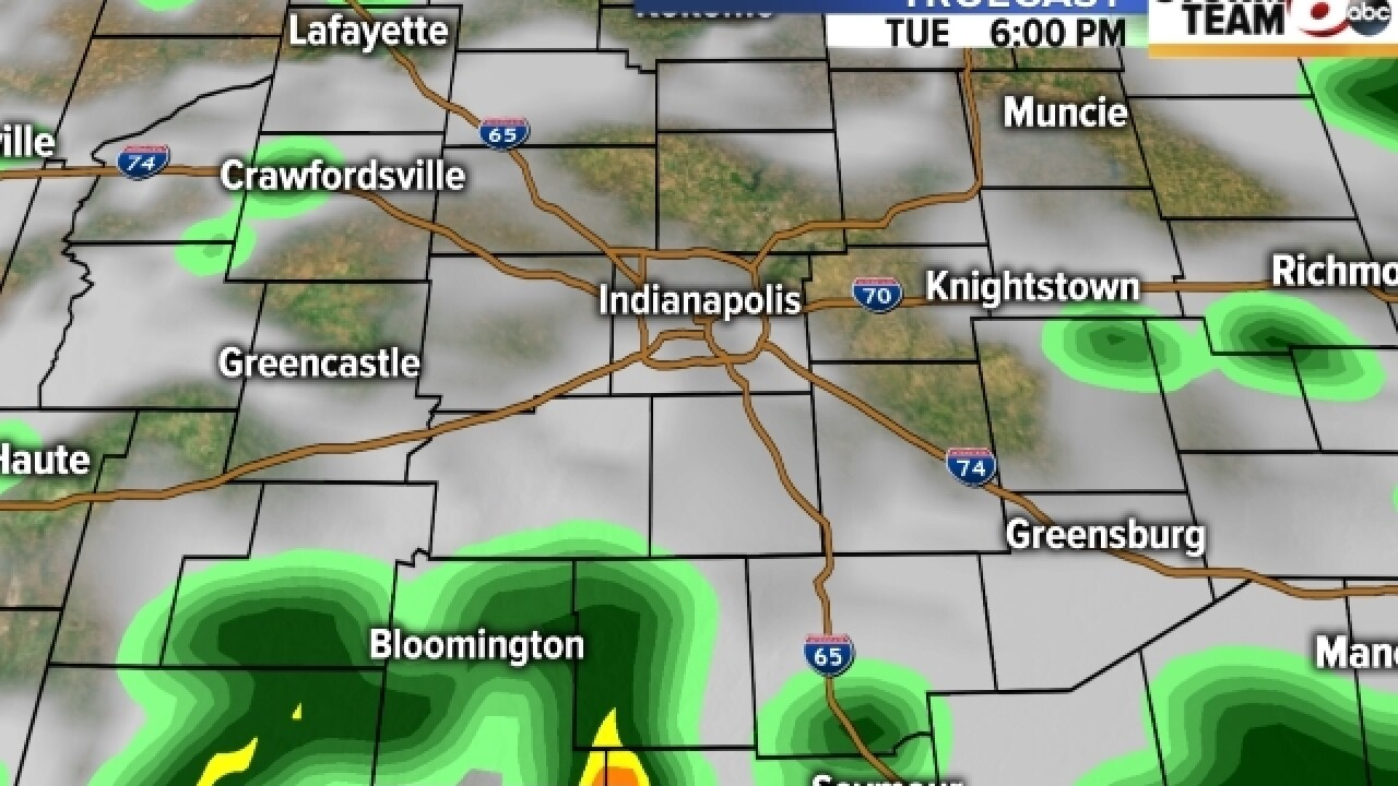 TIMELINE: More rain on Monday