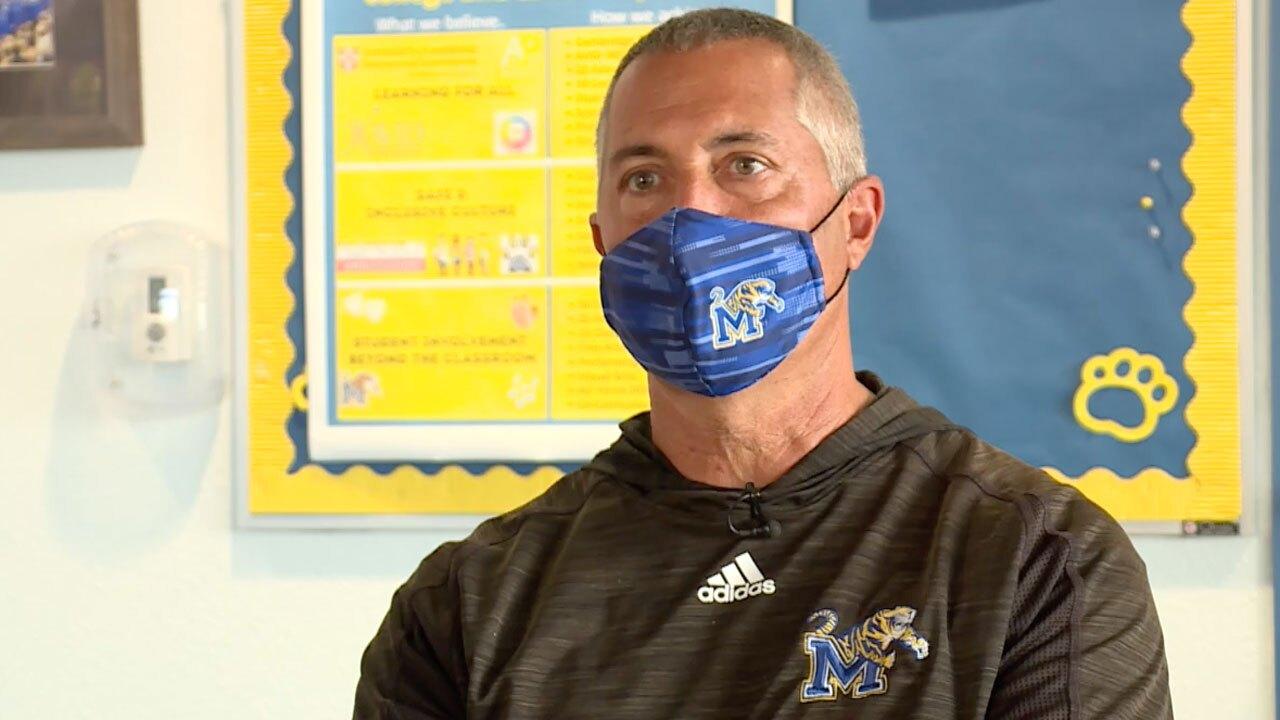 Martin County High School Athletic Director Mark Cowles
