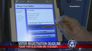 Monday is final day to register to vote in Nov. 2 elections