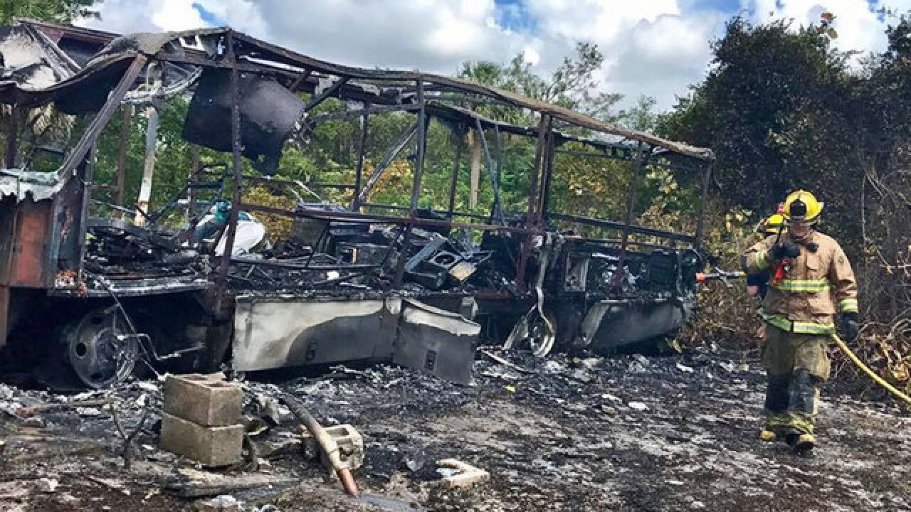 Fire destroys RV in St. Lucie County