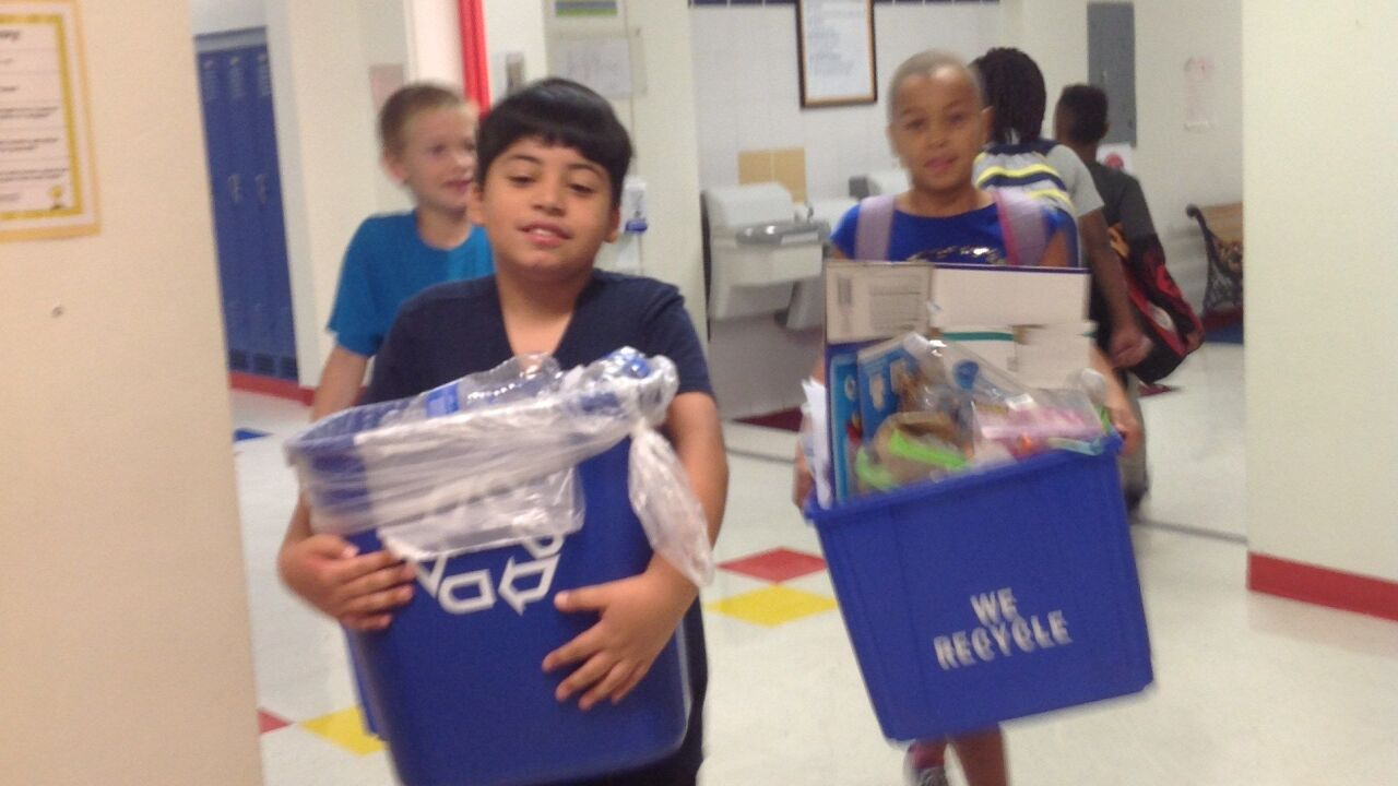 Hettie Halstead Elementary's student council turning trash into cash