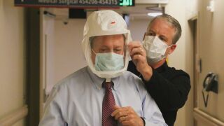 Mayor Suthers at in PPE
