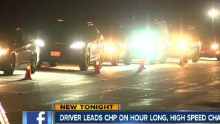 Driver leads CHP on hour long, high speed chase
