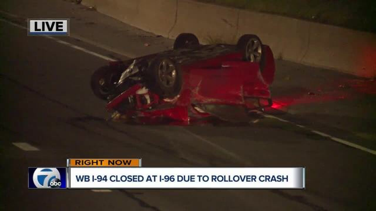 One dead after high-speed crash on I-94 in Detroit