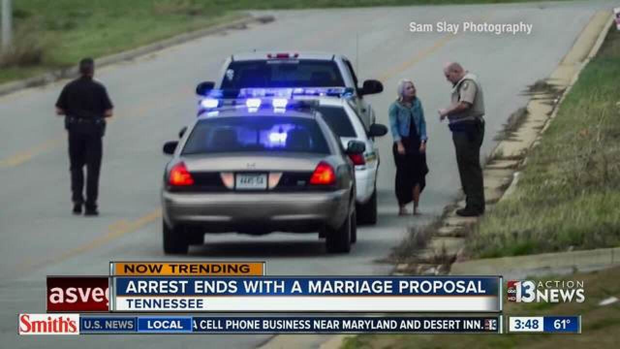 Tennessee arrest ends in marriage proposal