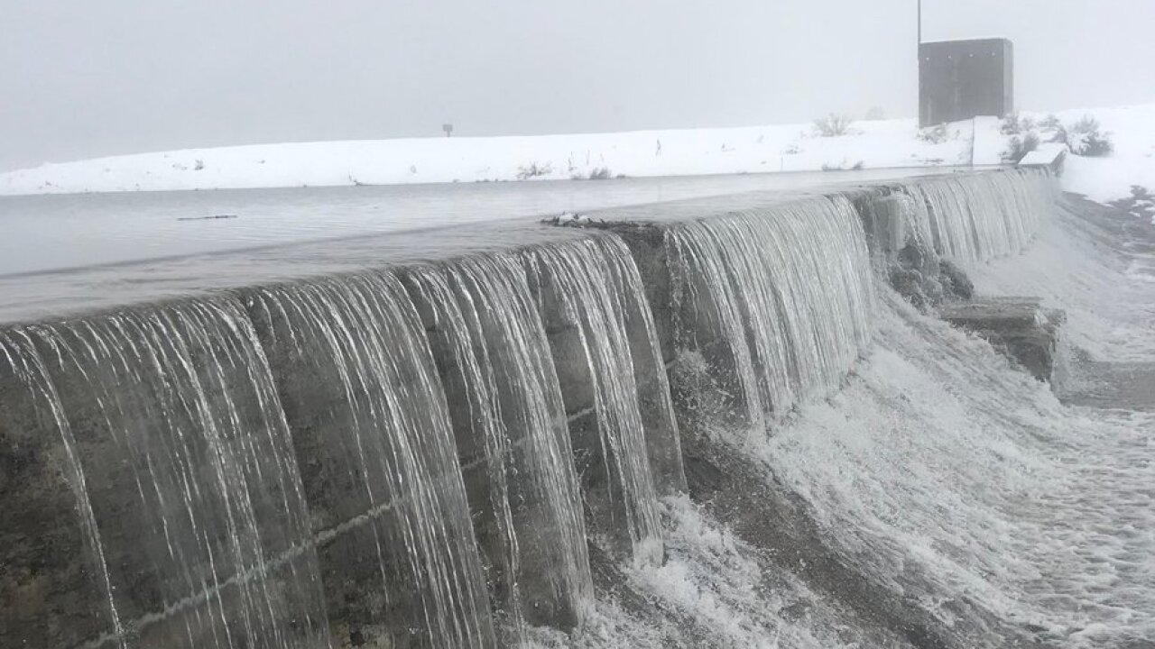 Panguitch Dam running over; police keeping an eye on spring thaw