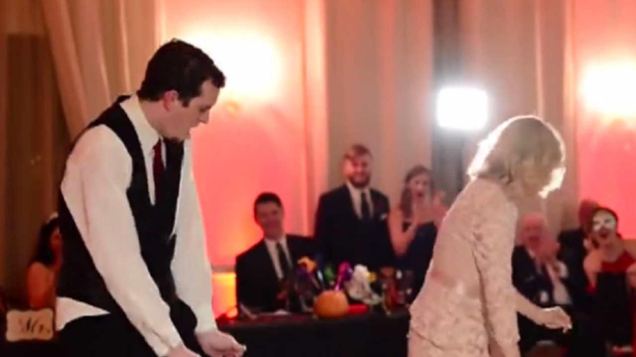 WATCH: Mother and son pull off epic wedding dance