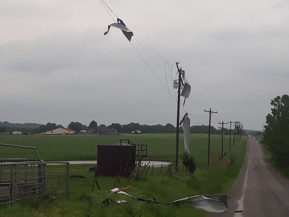 Haskell storm damage