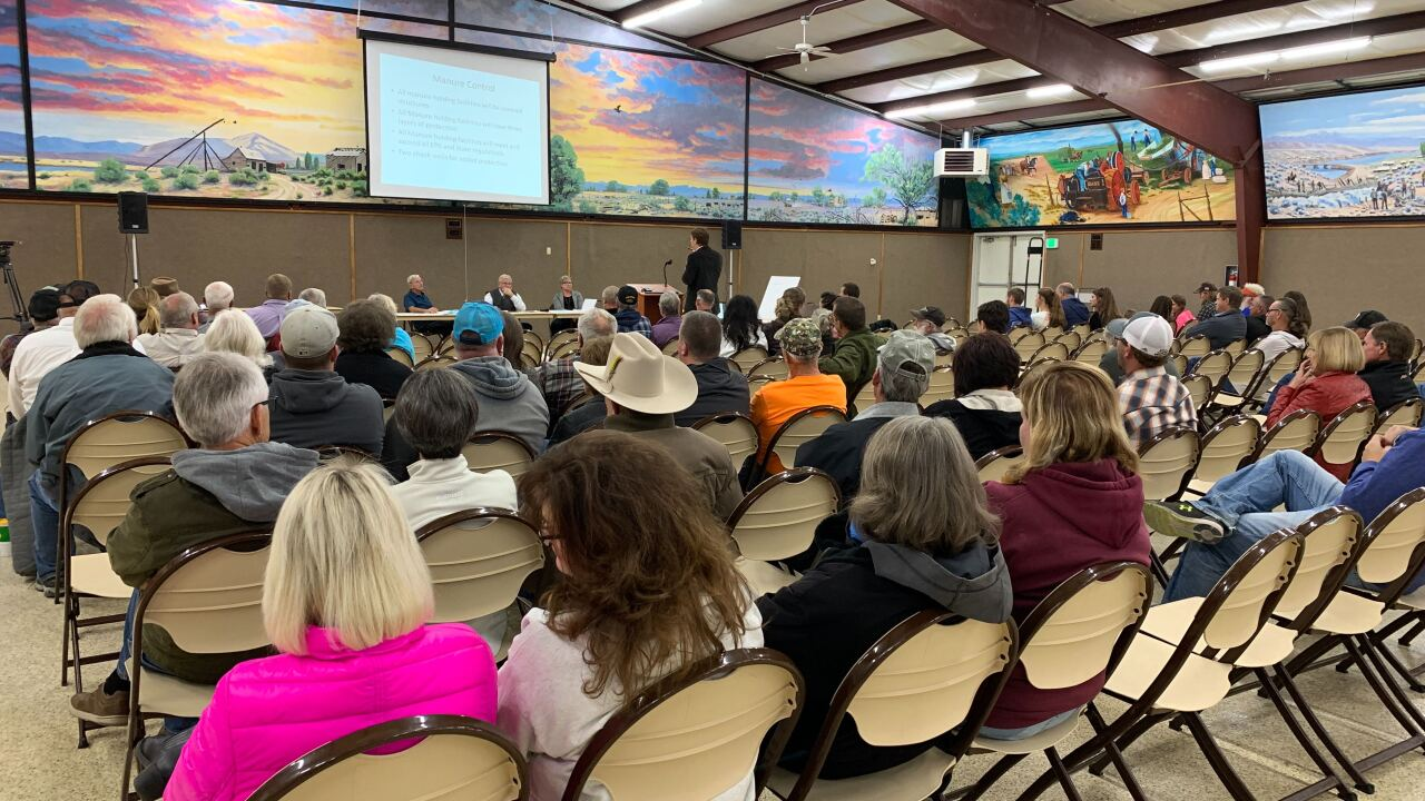 In central Utah, residents protest a large-scale hog farm that wants to move in